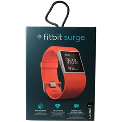 "Fitbit Surge Fitness Superwatch, Tangerine, Large (6.3-7.8"")"