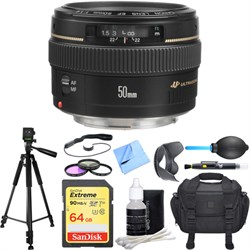Canon EF 50mm f/1.4 USM Standard + Medium Telephoto Lens ...