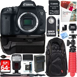 Canon EOS 7D Mark II 20.2MP DSLR Camera with Wi-Fi Adapte...