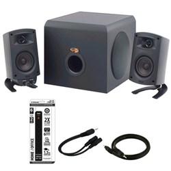 Klipsch ProMedia 2.1 THX Certified Computer Speaker System Blck w/Acccessory Kit E1KLPPROMEDIA21