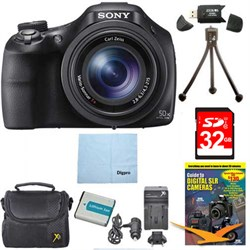 Sony DSC-HX400V/B 50x Optiical Zoom 4K Stills Digital Cam...