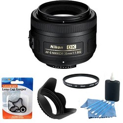 Nikon AF-S DX 35mm F/1.8G Lens Exclusive Accessory Bundle