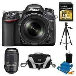 Nikon D7100 Digital HD-SLR with 18-105mm Lens 32GB and 55-300 Lens Bundle