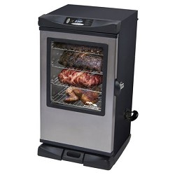 Masterbuilt 30-Inch Front Controller Electric Smoker with Window & RF Controller