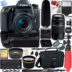 Canon EOS 77D DSLR Camera + 18-55mm & 75-300mm Dual Lens ...