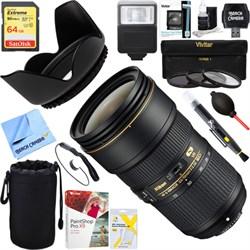 Nikon 24-70mm f/2.8E ED VR AF-S NIKKOR Zoom Lens + 64GB U...