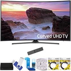 "Samsung UN55MU6500FXZA Curved 55"" 4K Ultra HD Smart LED TV (2017 Model) Plus Terk CUT-THE-CORD HD Digital TV Tuner And Recorder 16GB HOOK-UP Bundle"