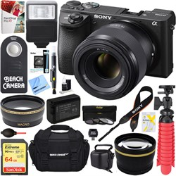Sony ILCE-6500 a6500 4K Mirrorless Camera Body w/ 50mm F1...