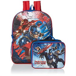 GDC Marvel Captain America 16 in Backpack With Lunch Kit GDCC327677