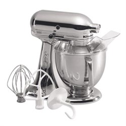 KitchenAid 5-Quart Tilt-Head Stand Mixer in Chrome - KSM1...