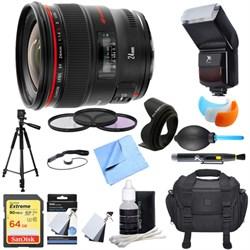 Canon EF 24mm f/1.4L II USM Lens Ultimate Accessory Bundle