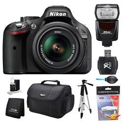 Nikon D5200 DX-Format Digital SLR Camera 18-55mm and Flash Kit