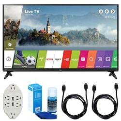 "LG LJ550B Series 32"""" Class Smart LED HDTV (2017 Model) w/ Accessories Bundle"" E1LG32LJ550B"