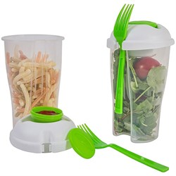 Diamond Home Food-To-Go Travel Shaker Cups For Lunch & Salads (Set of Two) SC10204 DIHSC10204