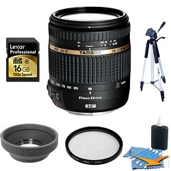 Tamron 18-270mm f/3.5-6.3 Di II VC PZD IF Nikon Lens 16 GB Bundle