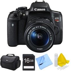 Canon EOS Rebel T6i Digital SLR Camera with EF-S 18-55mm IS STM Lens 16GB Bundle