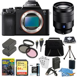 Sony ILCE-7S/B a7S Full Frame Camera, 24-70mm Lens, 64GB ...