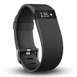 Fitbit Charge HR Wireless Activity Wristband, Black, Large FITBITFB405BKL