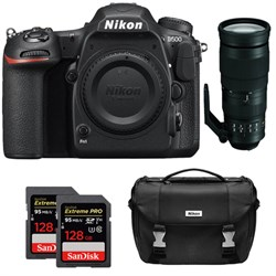 Nikon D500 CMOS DX DSLR Camera w/ 4K Video (Body) + 200-5...