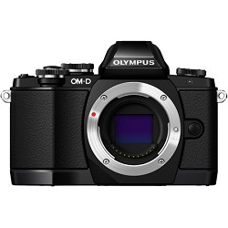 Olympus OM-D E-M10 Mirrorless Micro Four Thirds Digital Camera Body Only - Black