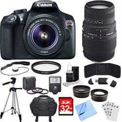 Canon EOS Rebel T6 Digital SLR Camera w/ EF-S 18-55mm + 7...