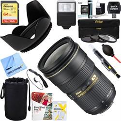 Nikon AF-S NIKKOR 24-70mm f/2.8G ED Lens + 64GB Ultimate Kit