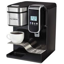 Hamilton Beach Single-Serve Coffee Maker, Programmable FlexBrew with Hot Water Dispenser HB49988