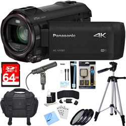 Panasonic HC-VX981K 4K Ultra HD Camcorder Black Essential...