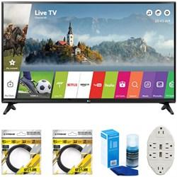 "LG 49"""" Class Full HD Smart LED TV 2017 Model 49LJ5500 with Cleaning Bundle"" E1LG49LJ5500"
