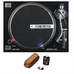 Reloop Quartz Driven DJ Turntable (Black) + D4+ Vinyl Rec...