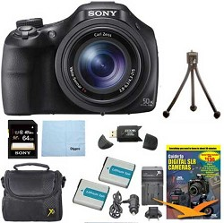 Sony DSC-HX400V/B 50x Optical Zoom 4K Stills Digital Came...