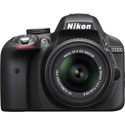 Nikon D3300 24.2 MP Digital SLR with 18-55mm VR II Lens (Black)  Factory Refurbished