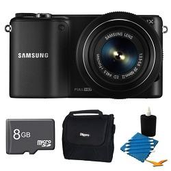 Samsung NX2000 20.3MP Black Smart Digital Camera with 20-50mm Lens 8GB Bundle