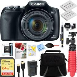 Canon PowerShot SX530 HS 16.0MP Digital Camera (Black) + ...