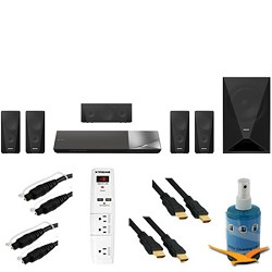 Sony BDV-N5200W - 1000W 5.1ch HD Blu-Ray Disc Home Theater System Plus Hook-Up Bundle