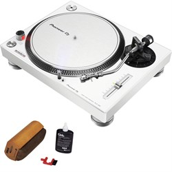 Pioneer PLX-500-W Direct drive turntable WHITE + Cleaning...