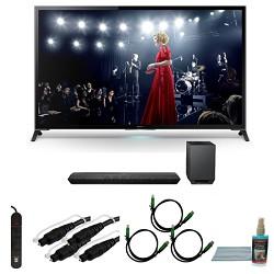 Sony XBR65X950B - 65-Inch X950B 4K Ultra HD 3D Smart TV Motionflow XR 960 Bundle