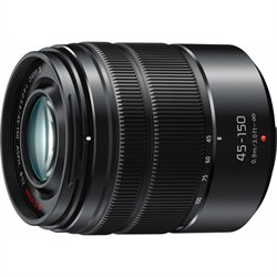 Panasonic LUMIX G VARIO 45-150mm H-FS45150 Black Lens wit...