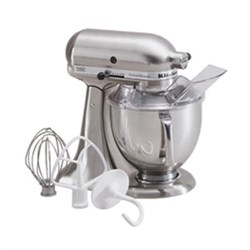 KitchenAid 5-Quart Tilt-Head Stand Mixer in Brushed Nicke...