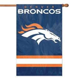Party Animal Broncos Applique Banner Flag PARAFDB