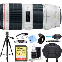 Canon EF 70-200mm f/2.8L IS II USM Telephoto Zoom Lens De...