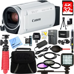 Canon VIXIA HF R800 Full HD White Camcorder + 32GB Card a...