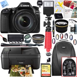 Canon EOS 80D CMOS Digital Camera w/EF-S 18-135mm Lens + ...