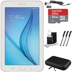 "Samsung Galaxy Tab E Lite 7.0"""" 8GB (Wi-Fi) White 32GB microSD Card Bundle"" E3SAMSMT113NDWAXAR"