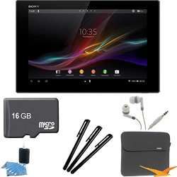 Sony Xperia Black 10.1 16GB Tablet Z 16GB Memory Card Bundle