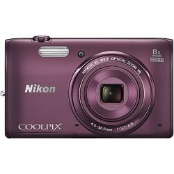 Nikon COOLPIX S5300 16MP 8x Opt Zoom Full HD 1080p Digital Camera, Plum - REFURBISHED