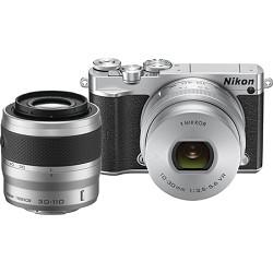 Nikon 1 J5 Digital Camera w/ NIKKOR 10-30mm Zoom Lens & NIKKOR 30-110mm Lens - Silver NK1J5103030110S
