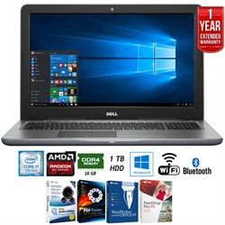 "Dell Inspiron 15.6"" i7-7500U 16GB/1TB HDD Touch Laptop + ..."