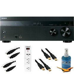 Sony 7.2ch 1015 Watt A/V Receiver with Bluetooth Plus Hook-Up Bundle - STR-DH750