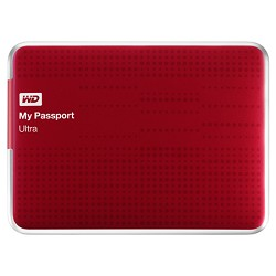 Western Digital My Passport Ultra 1 TB USB 3.0 Portable Hard Drive - WDBZFP0010BRD-NESN (Red)